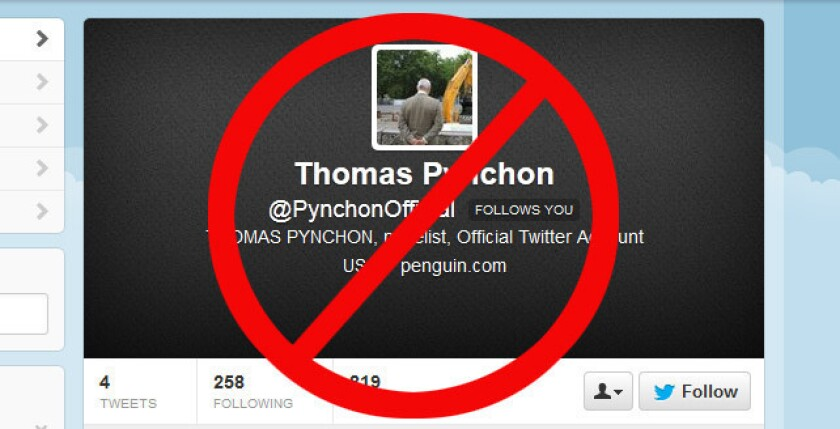 Thomas Pynchon Twitter account is a hoax