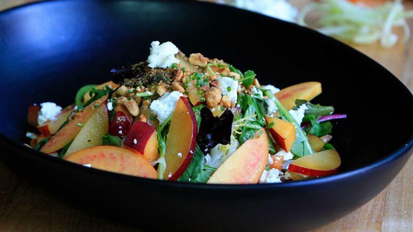 Stone Fruit Salad made by chef Jeremy Oursland at Bottega Americano.