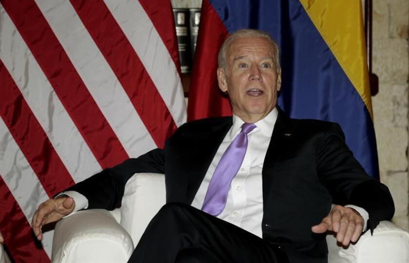 El vicepresidente, Joe Biden, aplaudió hoy las políticas medioambientales de Canadá y recomendó a las autoridades canadienses que mantengan la lucha contra el cambio climático a pesar de la elección de Donald Trump como el próximo presidente del país. EFE/ARCHIVO