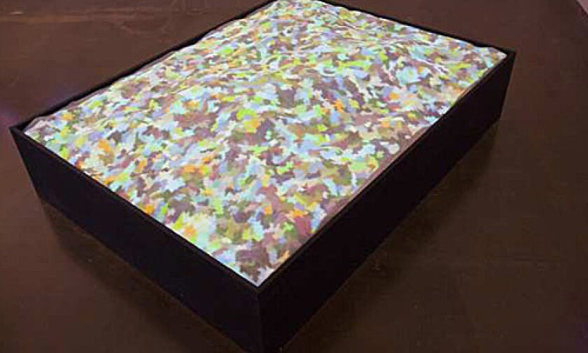 'LANDSLIDE': This OCMA-owned 2004 Shirley Shor work uses custom C++ software, a PC and a projector.