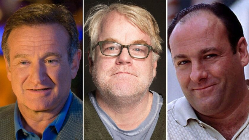 Robin Williams. Phillip Seymour Hoffman and James Gandolfini