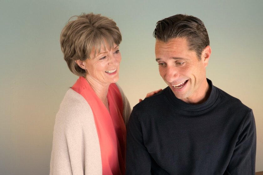 """Rosina Reynolds and Nick Cagle star in San Diego Rep's """"Uncanny Valley."""""""