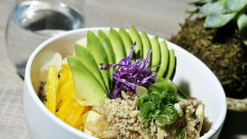 The Don Rice Bowl with tofu served at Artisan Bento. (Rick Nocon)