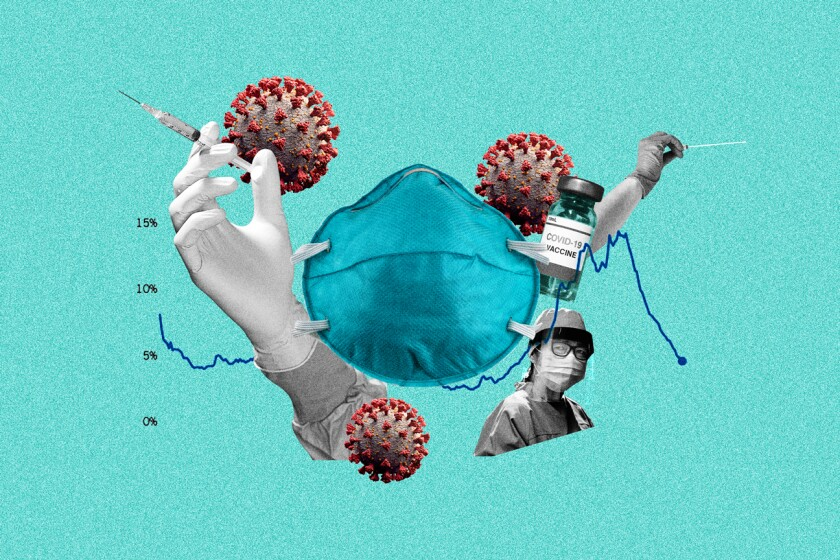Illustration of medical and virus related images.
