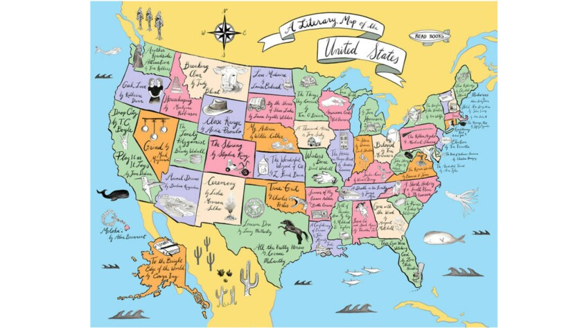 """""""A Literary Map of the United States."""" Road trip, anyone?"""