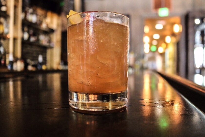 The Saladito cocktail at Bar10, opening Friday in West Hollywood. The drink is made with El Silencio mezcal, honey, lemon and cayenne pepper.