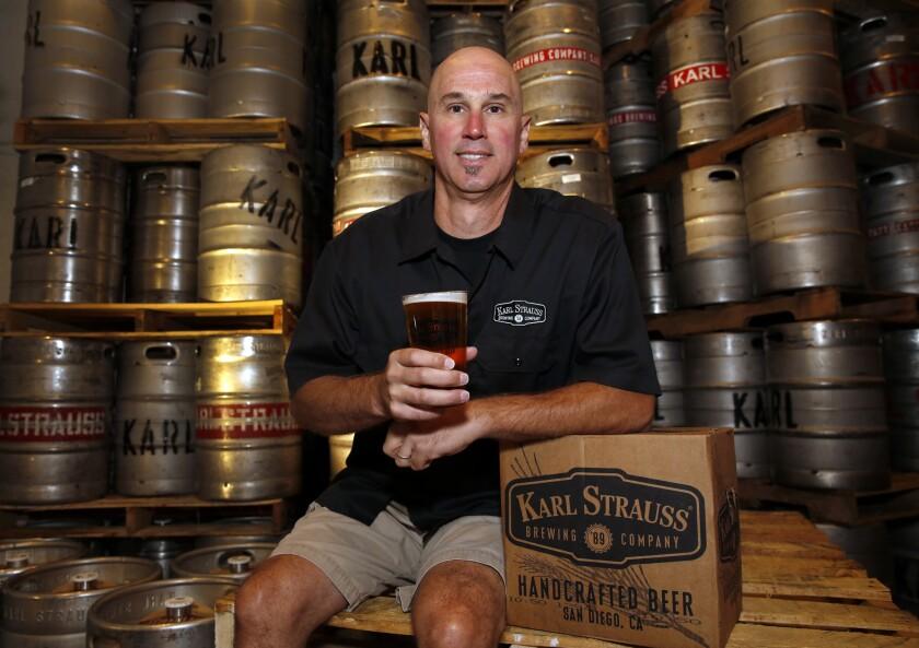 Paul Segura, Karl Strauss' brewmaster, shown in 2014.