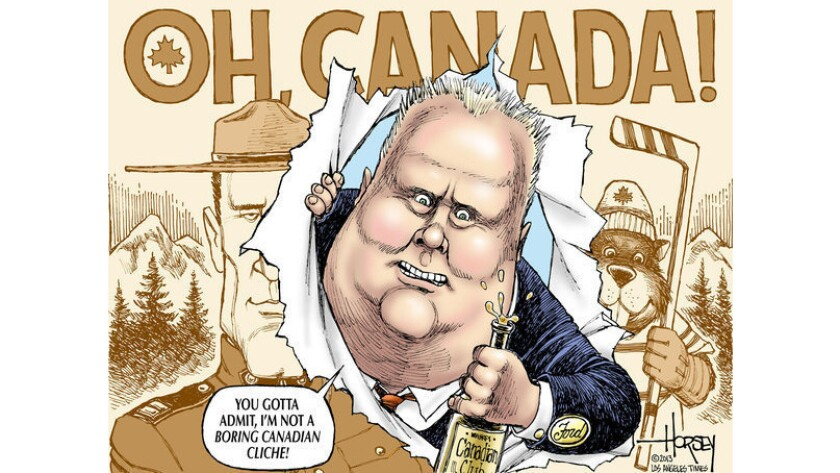 Toronto Mayor Rob Ford is Canada's gift to the news cycle