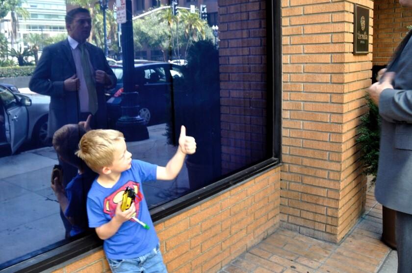 Shawn VanDiver with his son Ryan