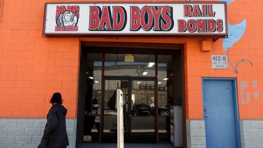 Bad Boys Bail Bonds in Los Angeles on Aug. 30, 2018.