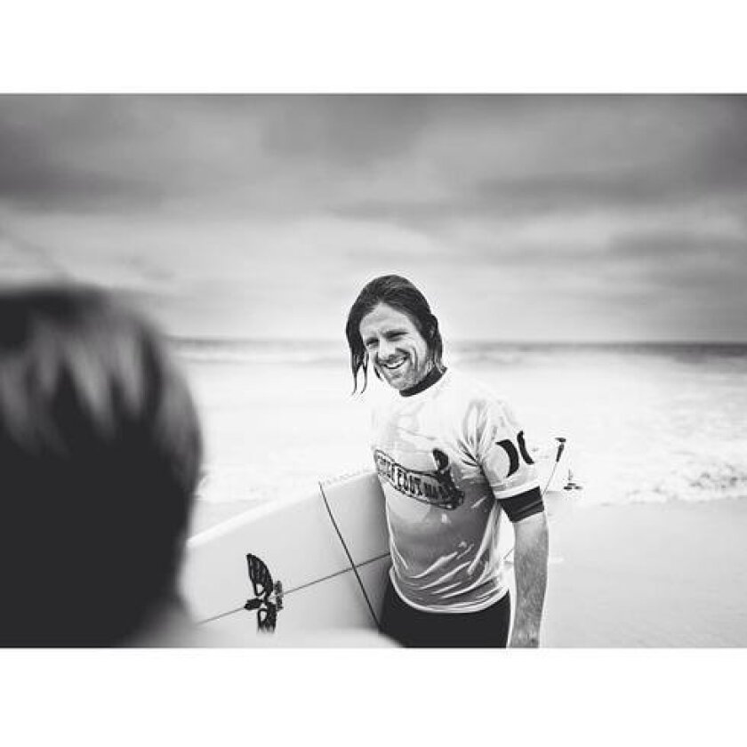 Jon Foreman of Switchfoot, surfing.