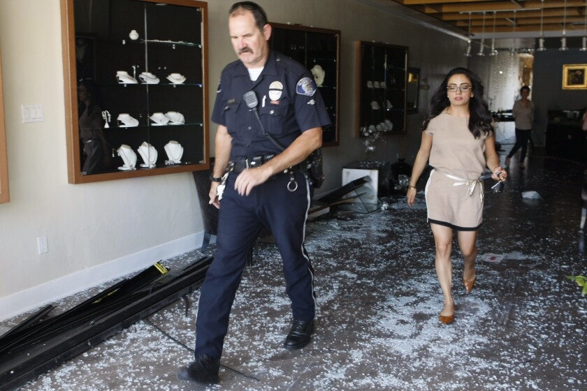 Man crashes car into jewelry store on Brand Boulevard