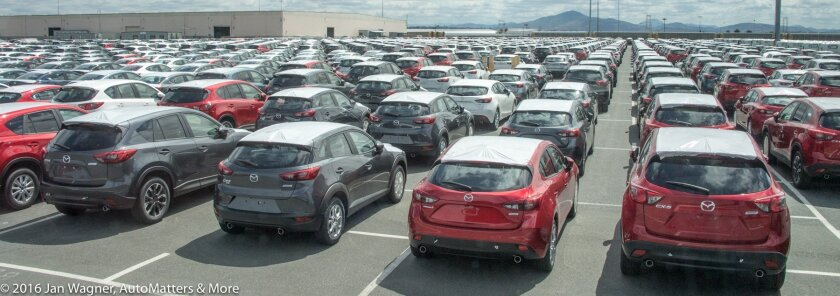 New autos at the Port of San Diego