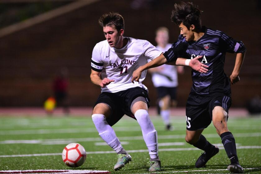 The Canyon Crest Academy and Torrey Pines High soccer teams play earlier in the season.