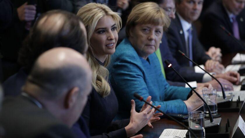 Ivanka Trump and Angela Merkel