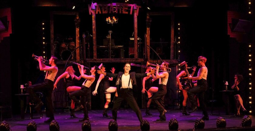 """The company of the Welk Resorts Theatre's """"Cabaret."""""""