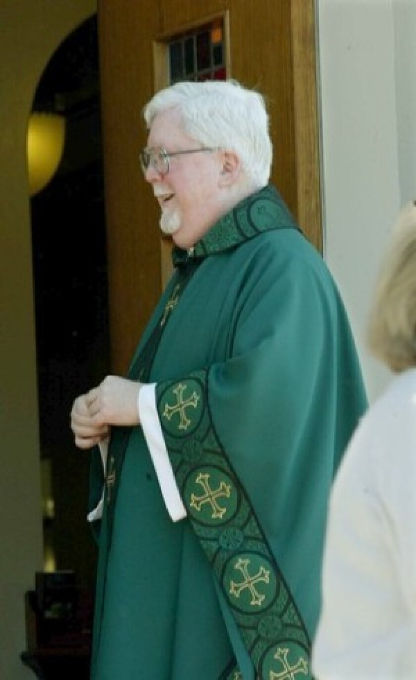 Testimony by Msgr. Richard Loomis (pictured) suggests there may be a paper trail showing Cardinal Roger Mahony was told about sex abuse.