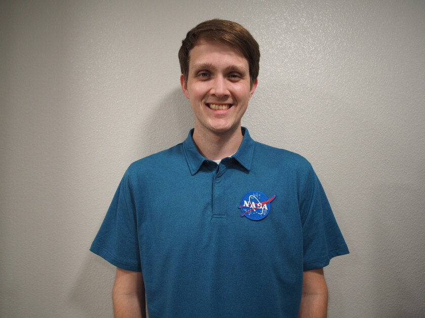 Timothy VanderPloeg, 27, started working for NASA in the launch services program at the Vandenberg Air Base on April 12 .