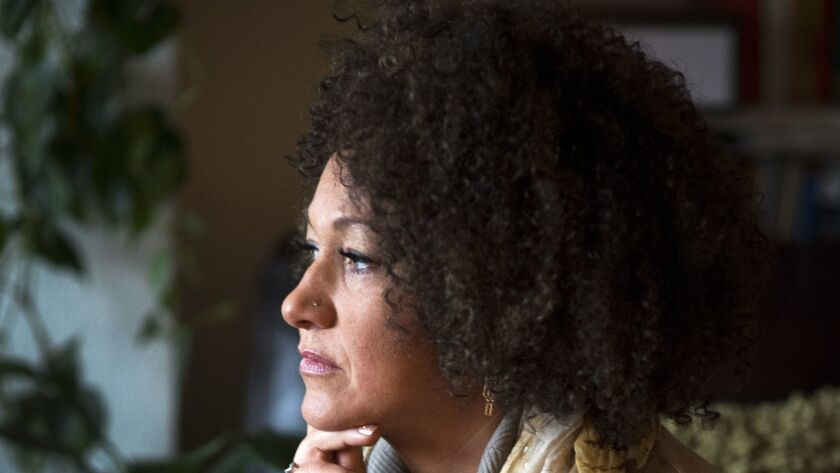 Rachel Dolezal poses for a photo on March 2, 2015. Months later allegations arose about her racial identity.