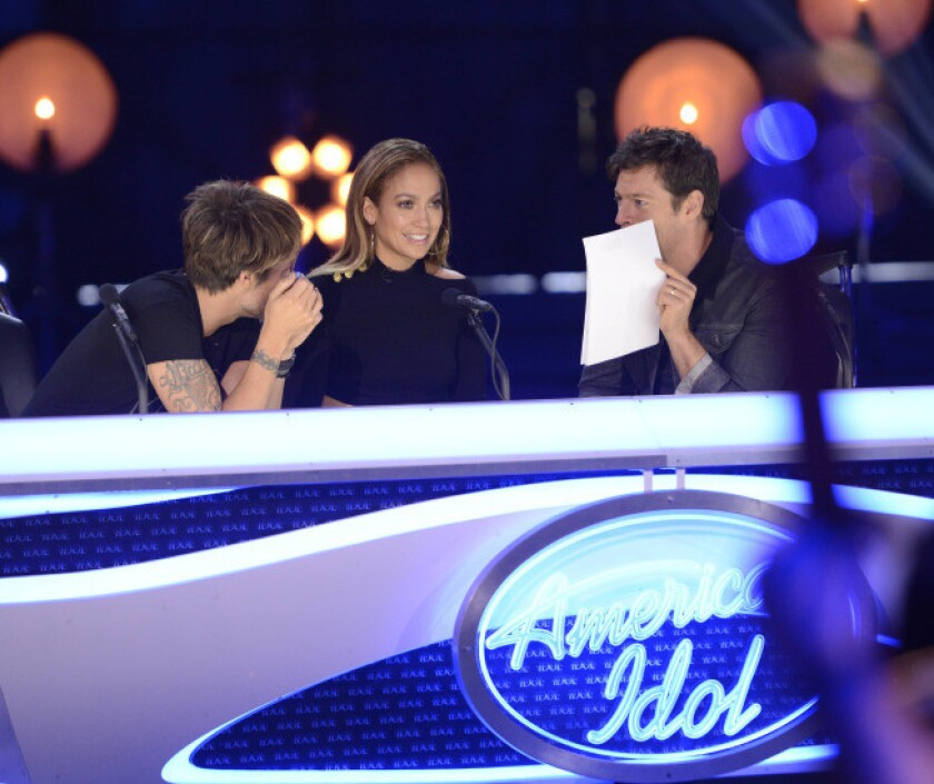 'American Idol' judges Keith Urban, Jennifer Lopez and Harry Connick, Jr. decide contestants' fate in an airport hangar.