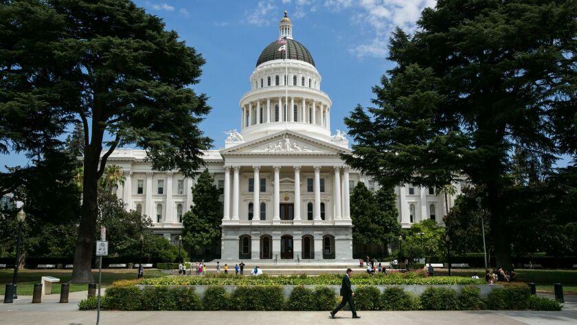 SACRAMENTO, CALIF. -- THURSDAY, JULY 9, 2015: Outside the Statehouse Capitol, in Sacramento, Calif.,