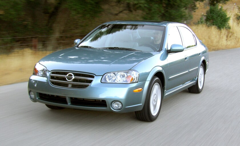 Nissan's 2001-03 Maxima is among the 664,628 Nissan and Infiniti vehicles the company is recalling to fix faulty air bags manufactured by the Takata Corp.