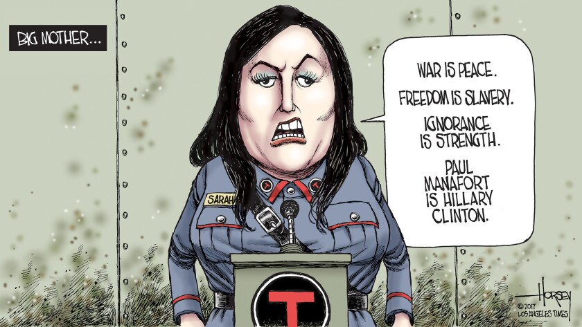 Sarah Huckabee Sanders is the right mouthpiece for a truth-twisting president