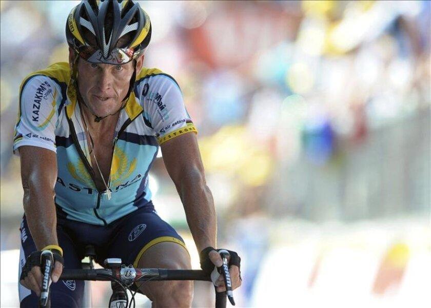 El exciclista estadounidense Lance Armstrong. EFE/Archivo