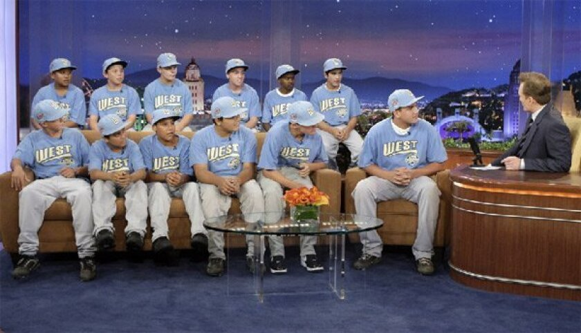 The Park View All-Stars of Chula Vista, champions of Sunday's Little League World Series finale, 