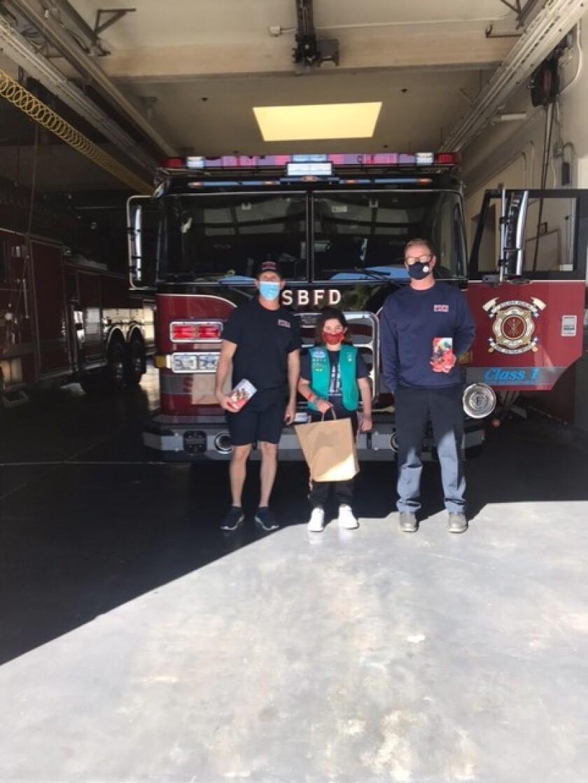 Grace Principi at the Solana Beach Fire Department.