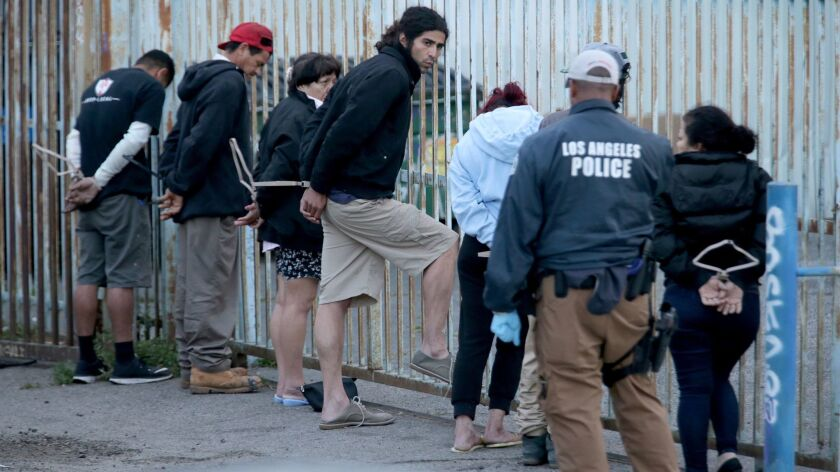 Roughly two dozen accused members of the violent MS-13 gang were arrested before dawn Wednesday as f