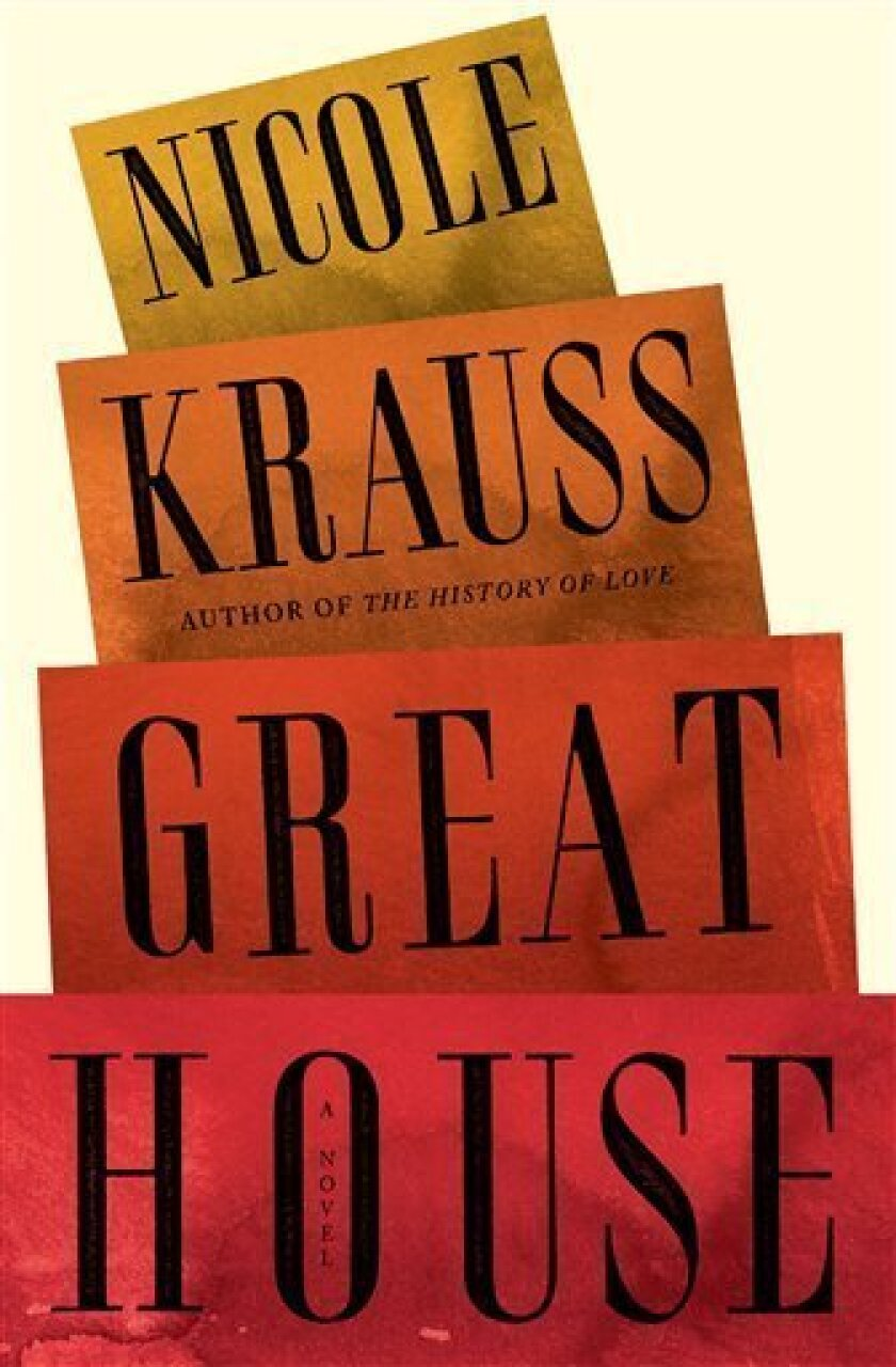 "In this book cover image released by W.W. Norton, ""Great House,"" by Nicole Krauss is shown. (AP Photo/W.W. Norton)"