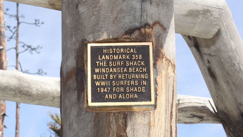 The plaque noting the WindanSea Surf Shack's historicity went up in late February.