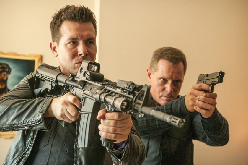 "Jon Seda, left, and Jason Beghe in ""Chicago P.D."""