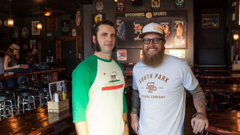 Scot Blair and Cosimo Sorentino at Monkey Paw Brewery Photographer: Brogen Jessup