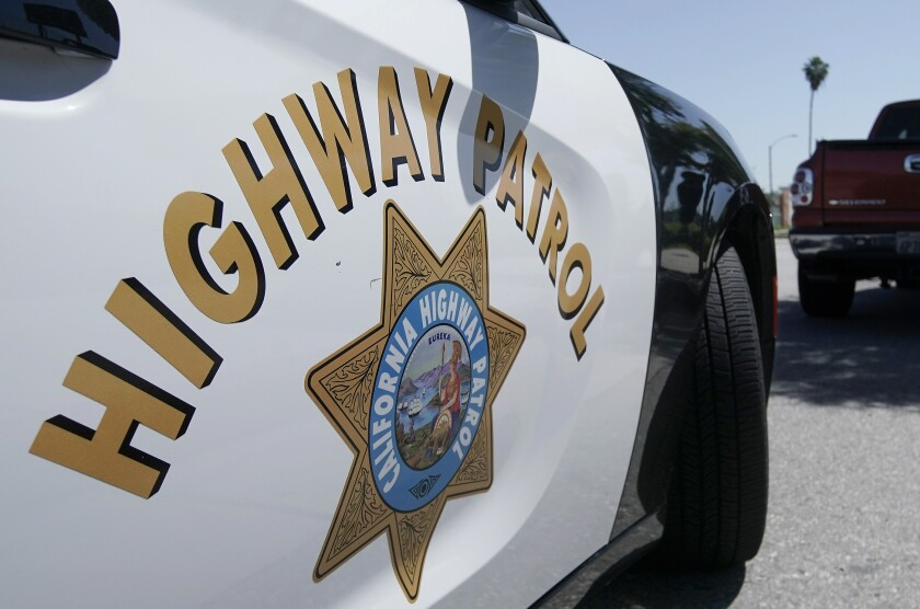 The side of a California Highway Patrol car