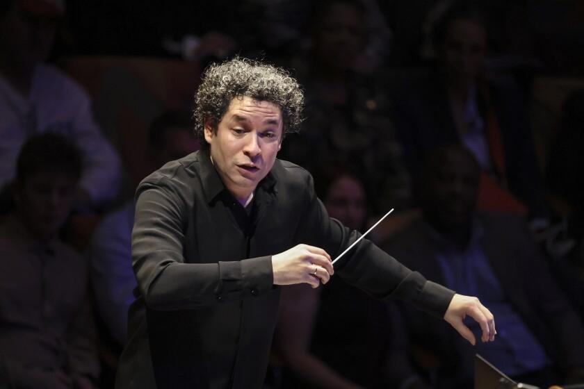 Gustavo Dudamel conducting the L.A. Philharmonic