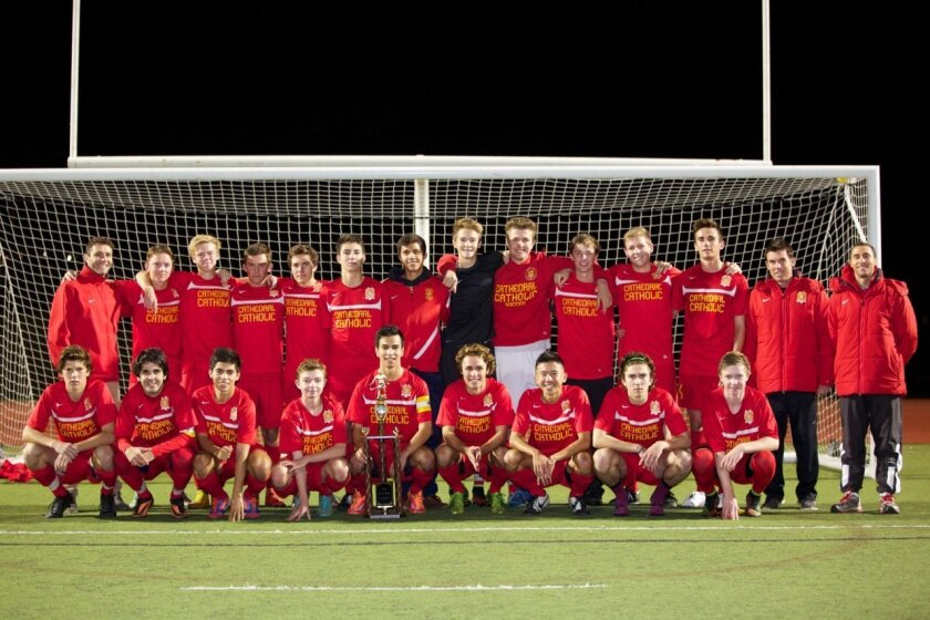 The Cathedral Boys Soccer Varsity Team won the North County Invitational Tournament held recently.