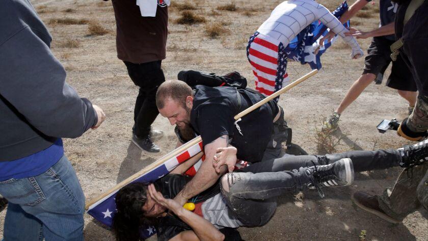 3029622_sd_me_border_wall_rally_NL San Diego, CA December 09, 2017 Pro-wall and anti-wall activist