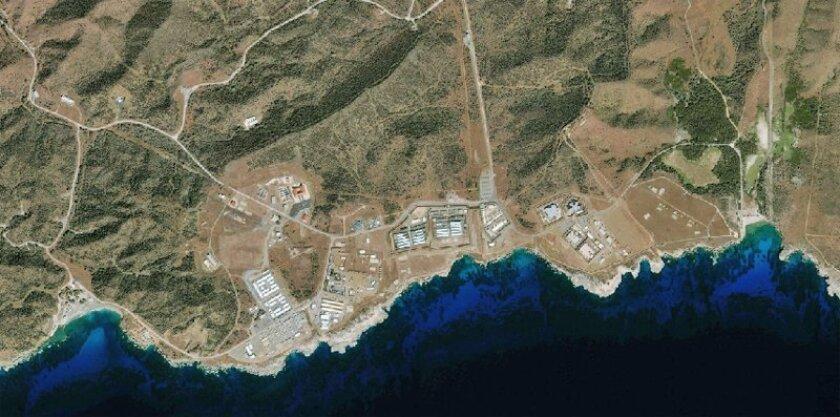 A Jan. 1 satellite image showed the detention camp at Guantanamo Bay, Cuba. (GeoEye / Associated Press)