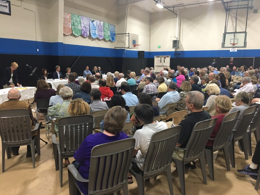 About 200 community members attended the Oct. 5 forum for Solana Beach City Council candidates.