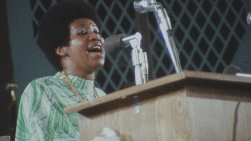 "Aretha Franklin in ""Amazing Grace."""