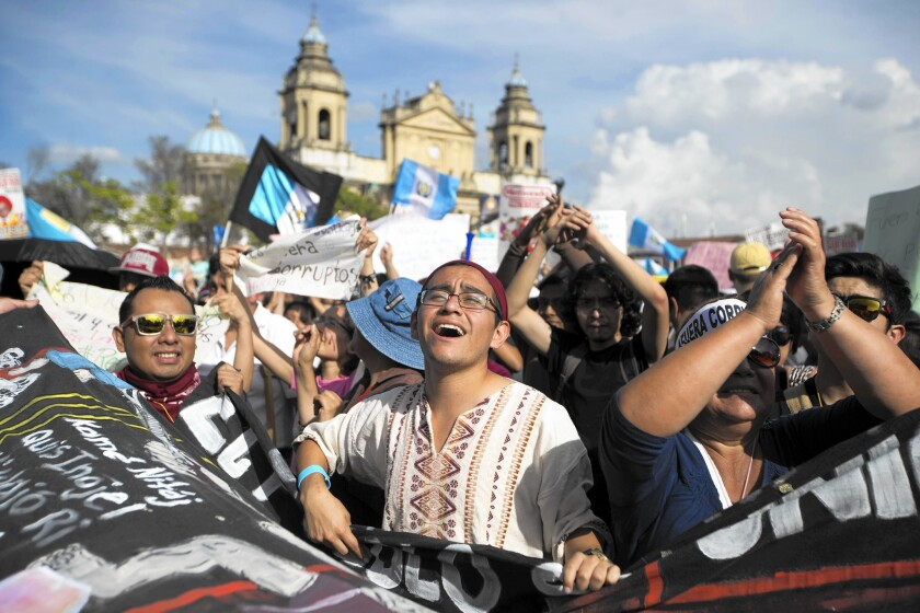 Protest in Guatemala City