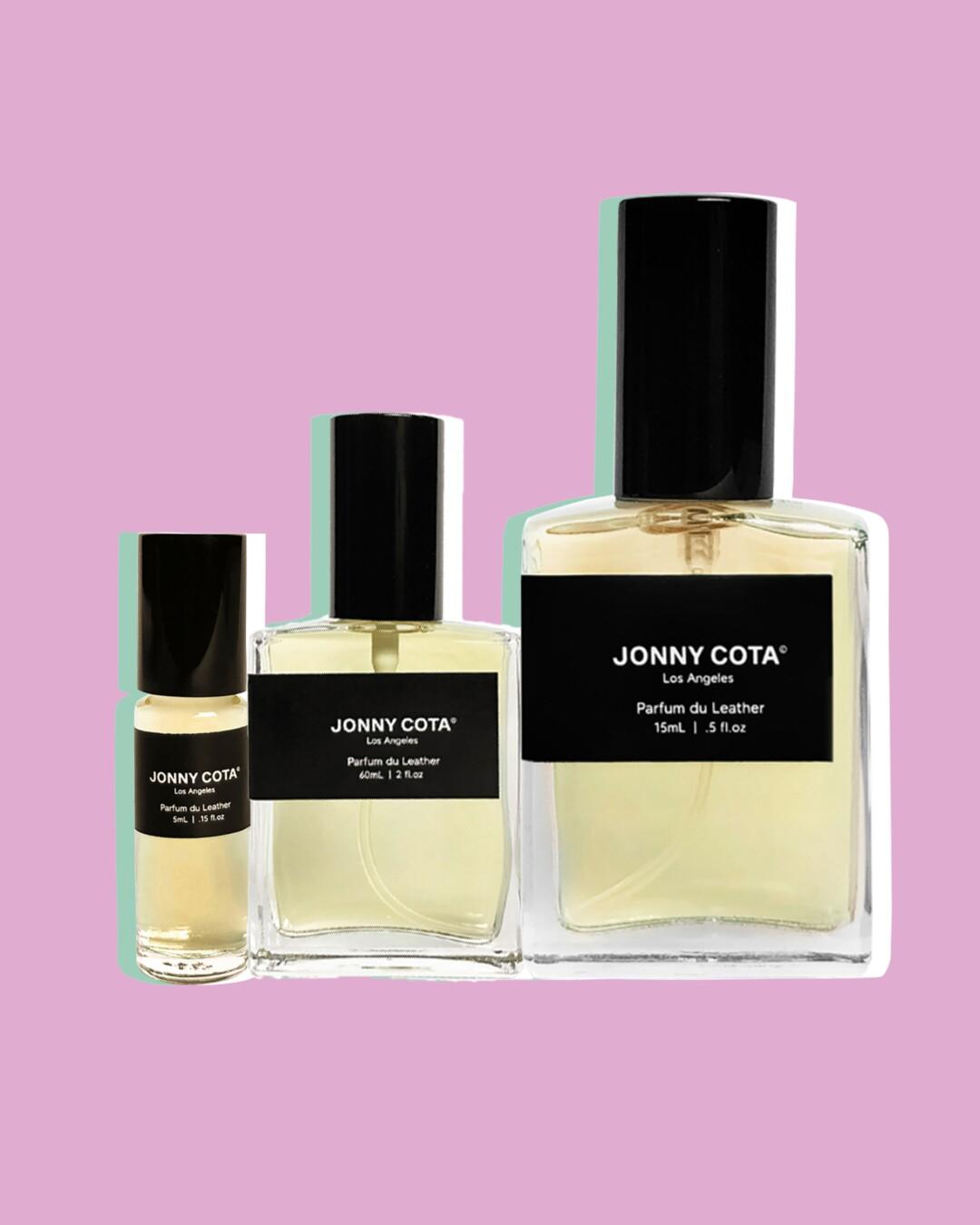 Jonny Cota perfume in three different sizes