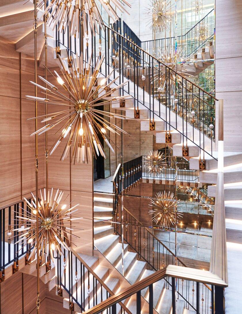 Drake's Toronto mansion staircase