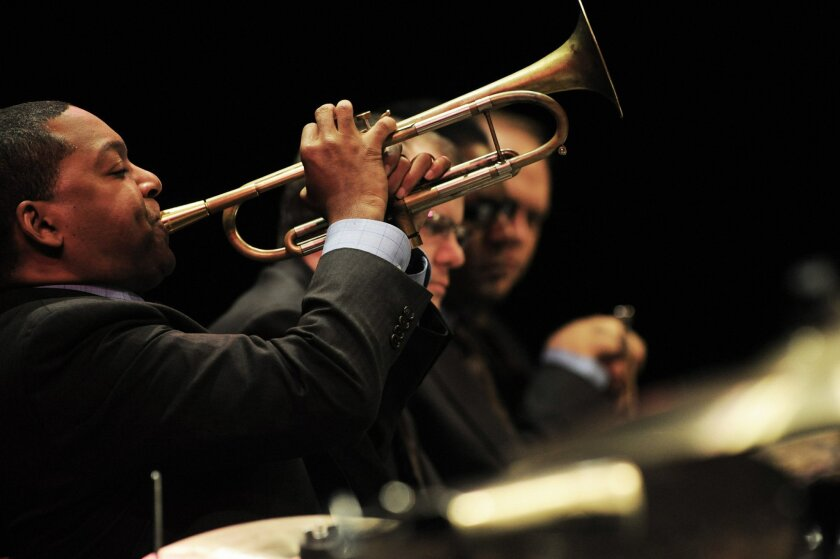 Wynton Marsalis and Jazz At Lincoln Center Orchestra. Photo by Frank Stewart