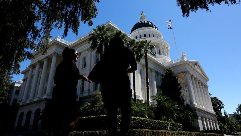 The California State Capitol in Sacramento, Calif. on Aug. 30, 2016.