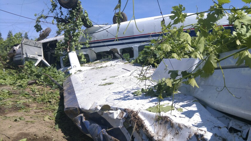 Skydiving plane crashes near Lodi