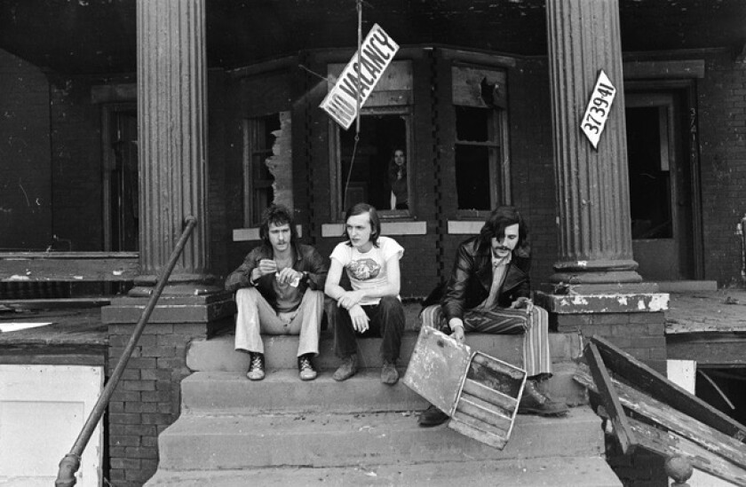 Creem magazine's Barry Kramer, Dave Marsh and Lester Bangs