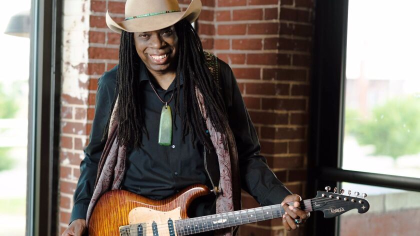 Guitarist Larry Mitchell is equally adept at rock, blues, jazz and other styles